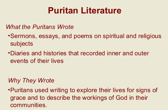 "puritan essay prompts Halpern of the harvard writing project and professors thomas a lewis (study  of religion  not: ""is it true that the puritans engaged in rigorous self-reflection."